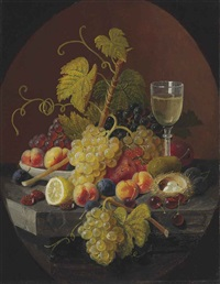 still life with bird's nest by severin roesen