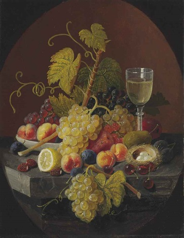 still life with birds nest by severin roesen