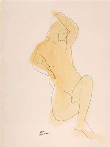 étude de nu féminin study by pierre ambrogiani