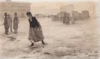 spring on the square by vassily ivanovich navozov