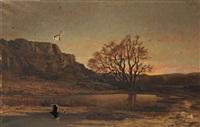 paysage le soir by tancrède abraham
