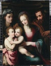 sacra famiglia con santa elisabetta e san giovannino by francesco del brina