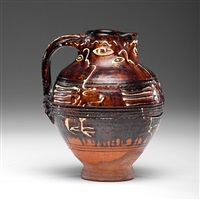 pitcher with slip decoration by sam haile