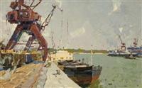 docklands scene by vitali aleksandrovich markin