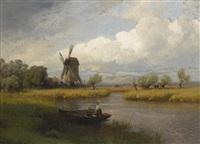 fishing by hermann herzog