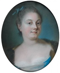 portrait de mademoiselle delorme by simon bernard le noir