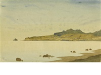 view of koktebel, crimea by maximilian alexandrovich voloshin