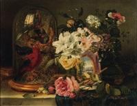 nature morte au globe et fleurs by john wainwright