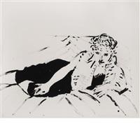 big celia print #1 by david hockney