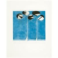 clubs-blue ground by richard diebenkorn