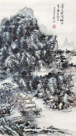 焦山诸美 by huang binhong