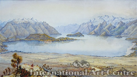 lake manapouri panorama by christopher aubrey