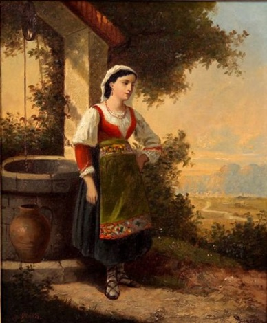 at the well by charles félix edouard deshayes