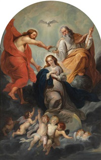 le couronnement de la vierge by sir peter paul rubens