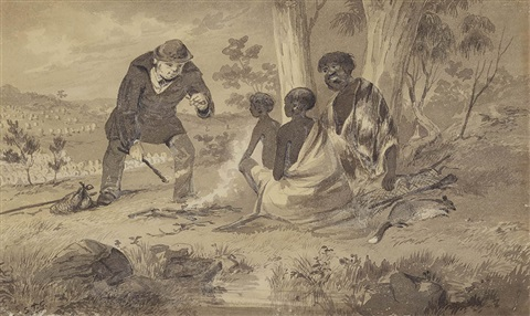 untitled campfire by samuel thomas gill