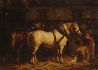 stable interior by willem jacobus boogaard
