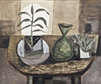 still life with plants by arthur armstrong