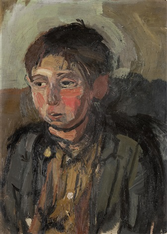 boy with apple cheeks by joan kathleen harding eardley