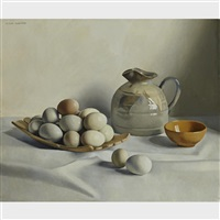 still life with eggs by jacques blanchard