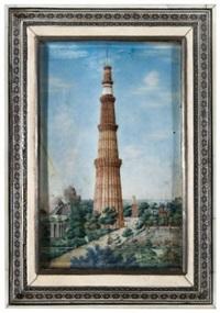 vue du qutab minar près de dehli en inde by anglo-indian school (19)