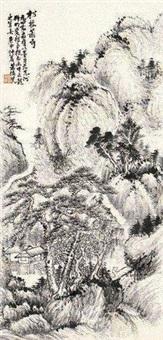 松林萧寺 by xiao junxian