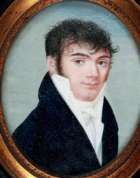 portrait d'homme en buste by joseph fourcade
