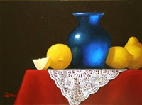 venetian glass with lemons by paul kavanagh