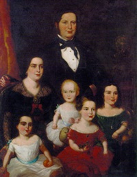 portrait of a family in an interior by william henry florio hutchinson