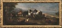 paesaggio con cavalli e figure by italian school-roman (17)