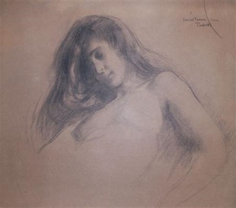 woman (study) by edmund charles tarbell
