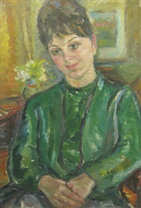 woman in green by ecaterina cristescu delighioz