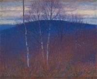 sous bois en hiver, la colline by charles frechon