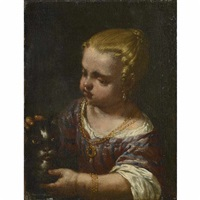 a girl with a cat by antonio mercurio amorosi