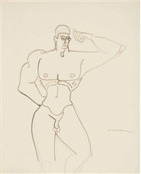 male nude by gaston lachaise