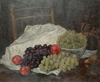 still life with grapes and other fruit by imre goth