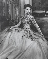 katherine hepburn in the millionairess by angus mcbean