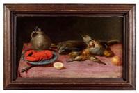 nature morte au homard et oiseaux by alexander adriaenssen