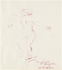 female nude (from new york post) by john marin