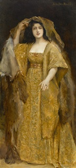 a portrait of an actress by achille (georges) fould