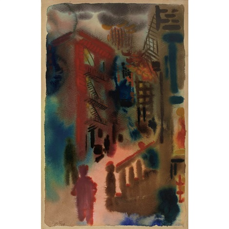 untitled city scene by george grosz