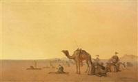prière dans le désert by henrik august ankarcrona