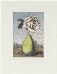 poire et rose (from les moyens d'existance) (+ bk) by rené magritte