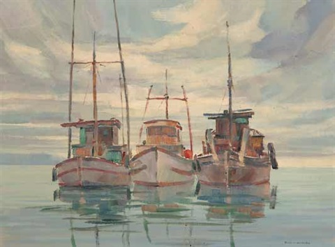indian fishboats porter pass bc by ronald threlkeld jackson