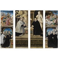the wings of a dismembered (triptych) by flemish school-bruges (16)