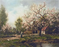 apple blossoms by dorus arts