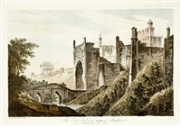 the east end of the fort at mongheer (+ 5 others, smllr; 6 works) by william hodges