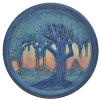trivet decorated with live oaks and spanish moss by anna frances connor simpson