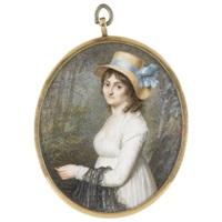 portriat of a lady by pierre louis bouvier