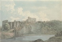 chepstow castle from across the river wye by john webber