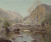 autumn gently tints the glen by sir david murray